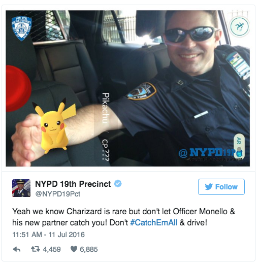 Pokemon Go Policia