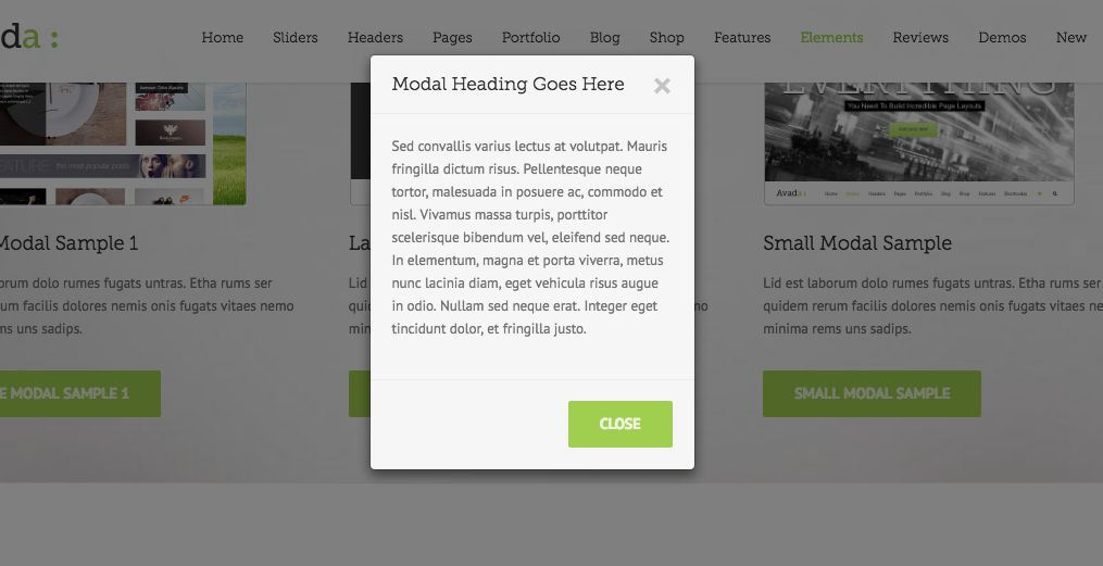 UX Example Modal