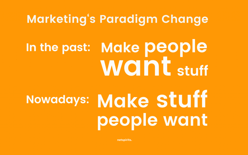 Paradigm shift in Marketing from product to customer